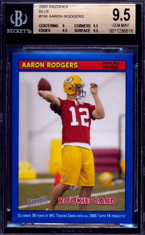 2005 Aaron Rodgers Rookie Card Bazooka Blue