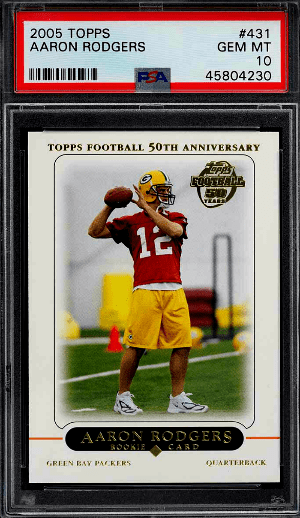 aaron rodgers rc topps