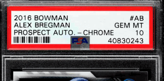 alex bregman rookie card