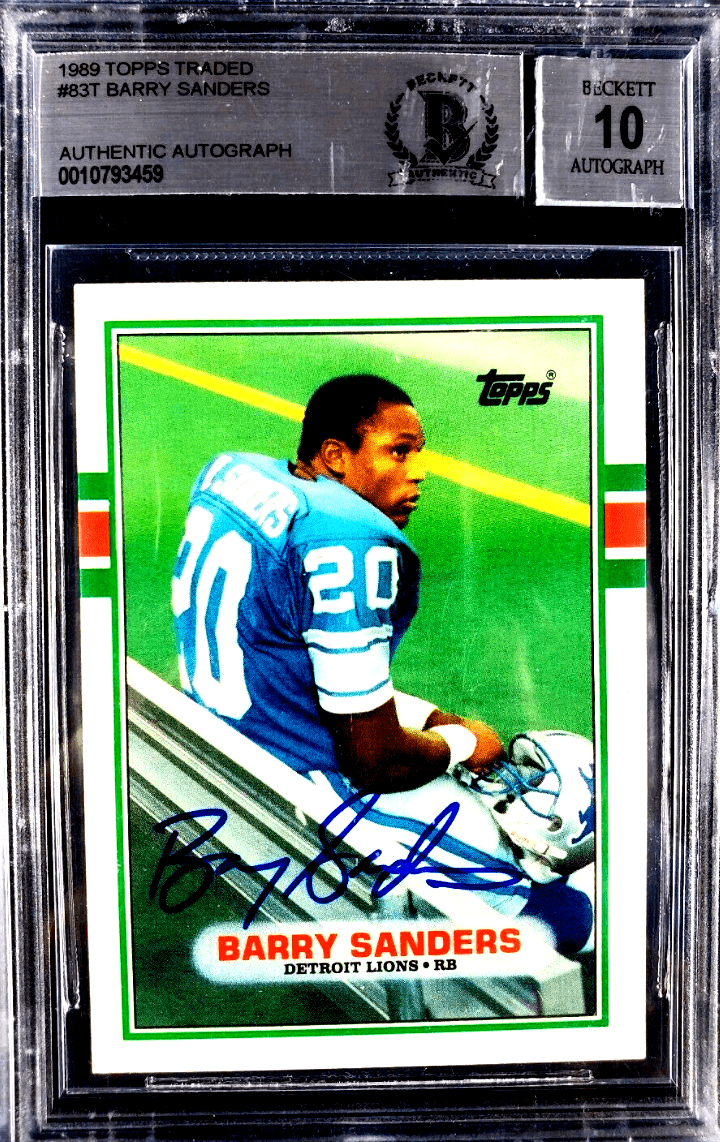 barry sanders rookie card topps 83t