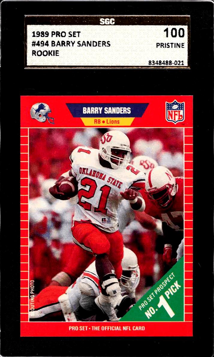 barry sanders rookie card pro set