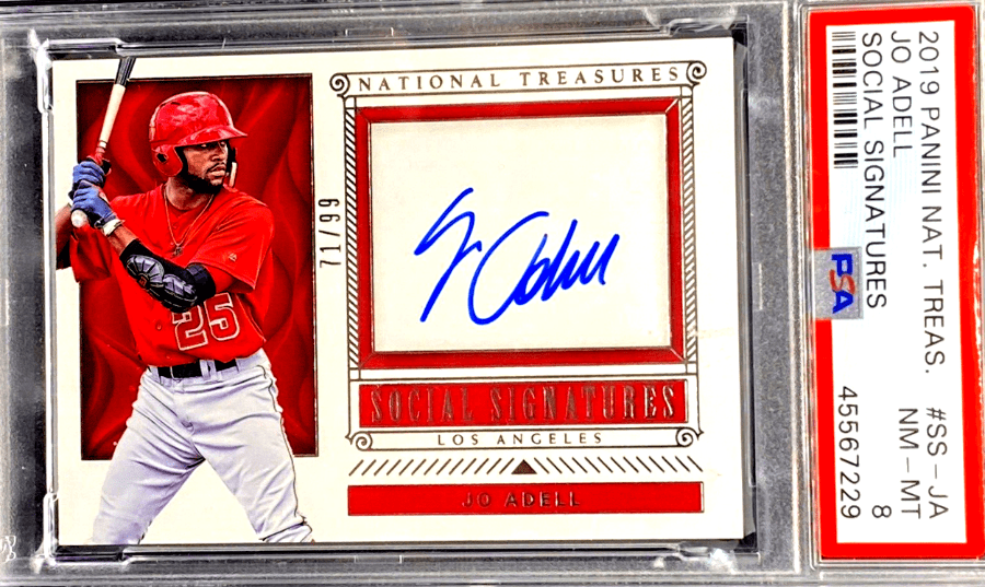 Jo Adell National Treasures rookie card