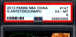 Giannis Antetokounmpo rookie card