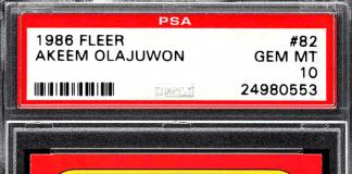 Hakeem Olajuwon Rookie Card
