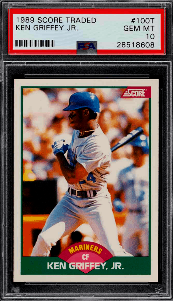 ken griffey jr score traded rookie card