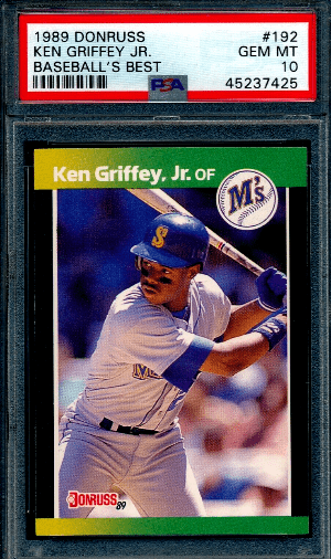 Ken Griffey Jr. rookie card Donruss Baseball's Best