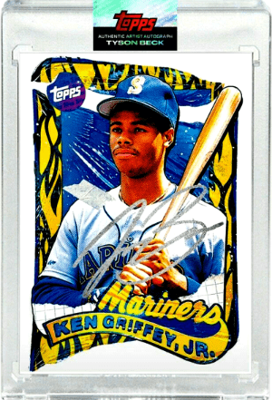 1989 Ken Griffey Jr by Tyson Beck Topps Project 2020