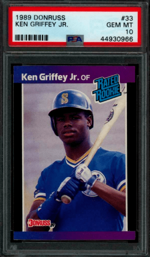 1989 ken griffey jr donruss rated rookie RC