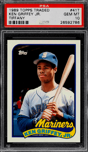1989 Topps Traded Tiffany Ken Griffey Jr. ROOKIE RC #41T