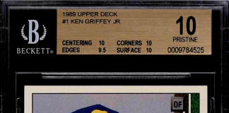 ken griffey jr rookie card upper deck