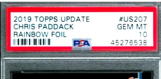 chris paddack rookie card