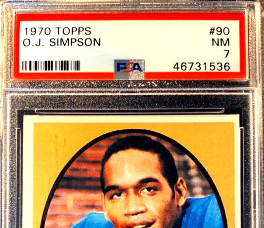 OJ Simpson Rookie Card topps