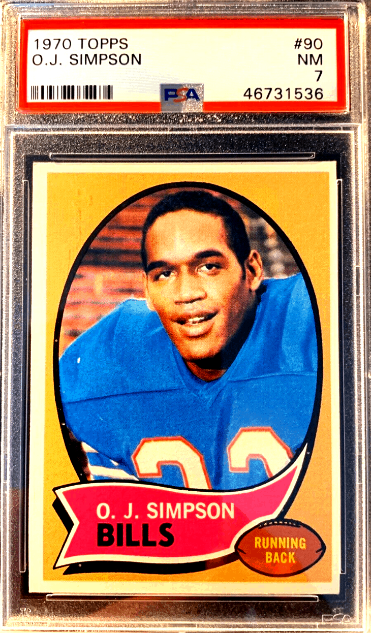 OJ Simpson topps Rookie Card