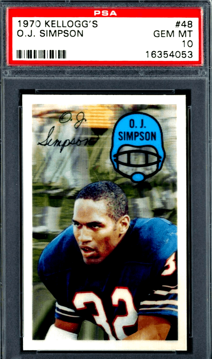 OJ Simpson Kellogg's rookie card
