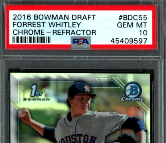 Forrest Whitley rookie card value