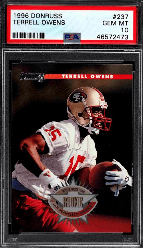 Terrell Owens Donruss rookie card