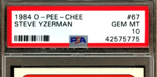 Steve Yzerman rookie card
