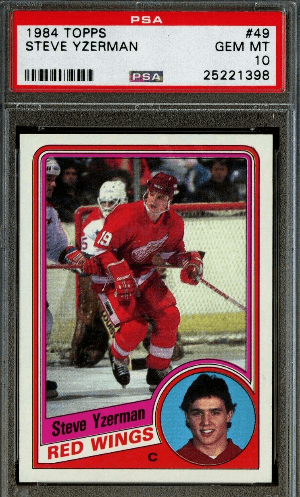 Steve Yzerman Topps rookie card