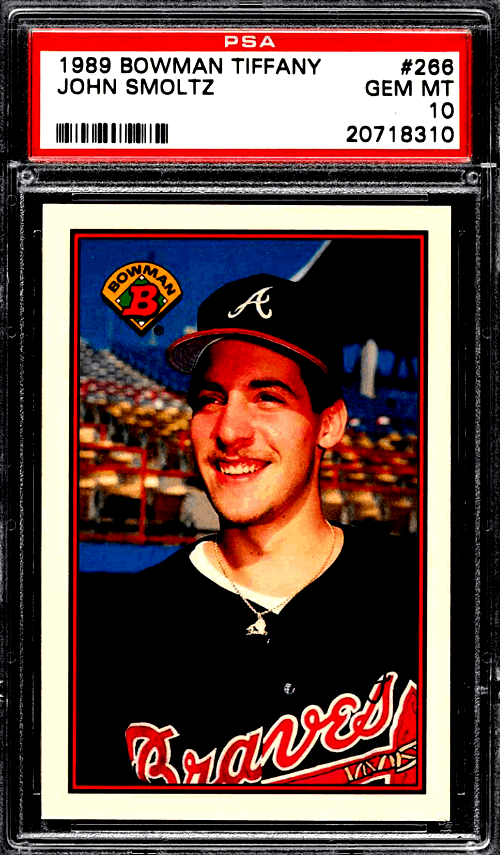John Smoltz Rookie Card Bowman Tiffany