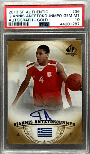 top 5 giannis antetokounmpo auto basketball cards