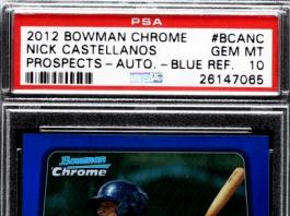 2012 Nick Castellanos Bowman rookie card