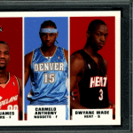 Carmelo Anthony Lebron James Dwyane Wade Fleer rookie card
