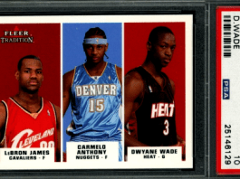 Carmelo Anthony Lebron James Dwyane Wade Fleer rookie card