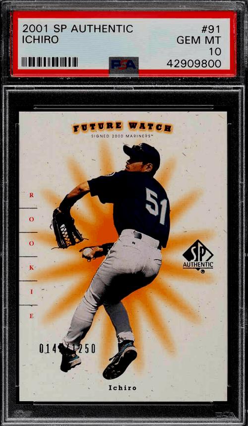ichiro suzuki rookie card